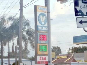 Gas at $2.999