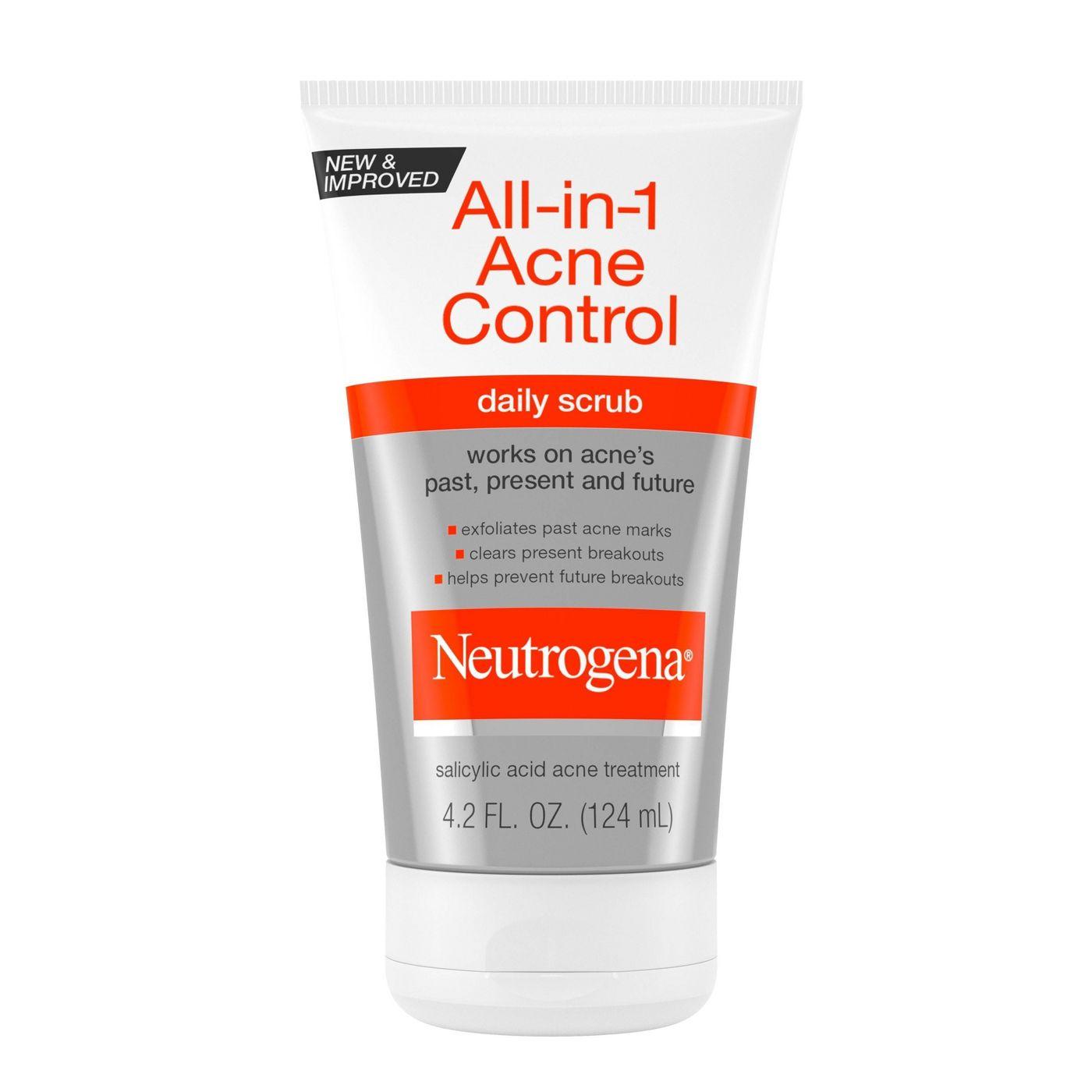 Neutrogena All-In-1 Acne Control Daily Scrub – Acne Treatment 124g