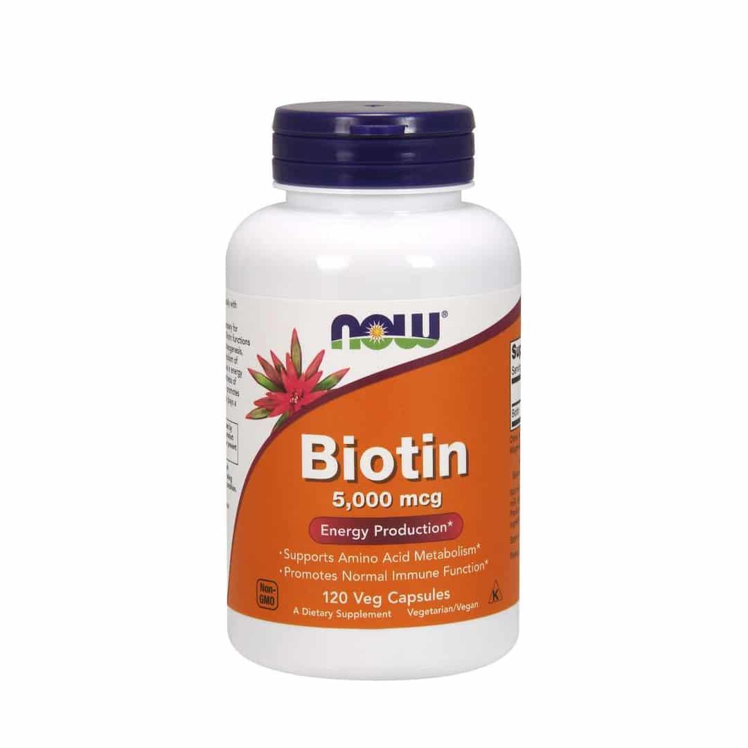 Now Foods Biotin 5,000 mcg Veg Capsules