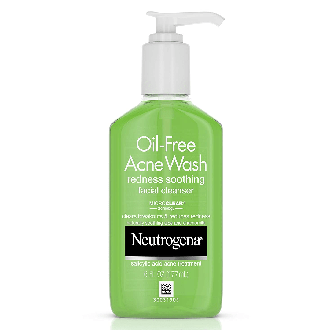 Neutrogena OilFree Acne and Redness Facial Cleanser Soothing Face Wash with Salicylic Acid Acne Medicine