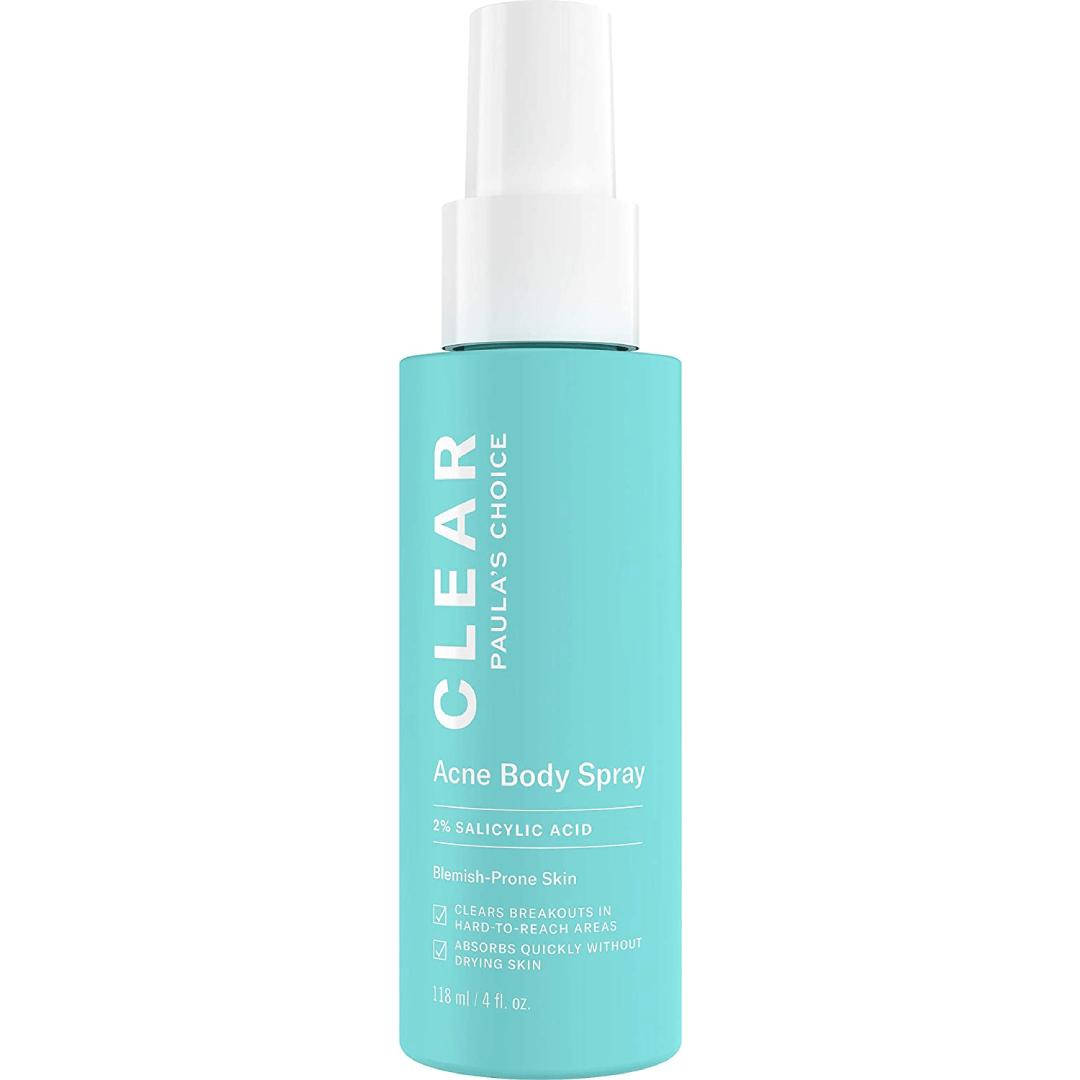Paula's Choice CLEAR Back and Body Acne Spray, 2% Salicylic Acid Treatment for Blackheads & Blemishes118ml