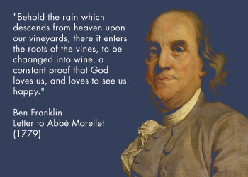 Ben Franklin ambassador of compromise, Quote on Alcohol with Source unlike spurious beer quote