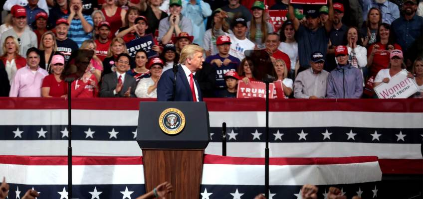 Legal Votes Only Trump Election 2020 Rally Crowd HEADER