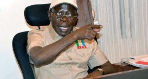 Adams Oshiomhole, chairman of the All Progressives Congress, APC