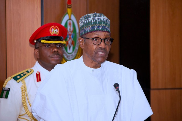 PRESIDENT BUHARI ATTENDS NDC COURSE 27 GRADUATION 0A President Muhammadu Buhari Addressing the Graduating Course 27 during the graduation ceremony of Course 27 of the National Defence College held in Abuja.