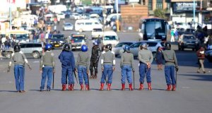Zimbabwe Riot Police Clamp Down On Harare Protesters