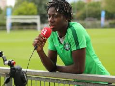 Sisat Lamina Oshoala, Nigerian Professional Tootballer Plays For Spanish Side FC Barcelona Femení