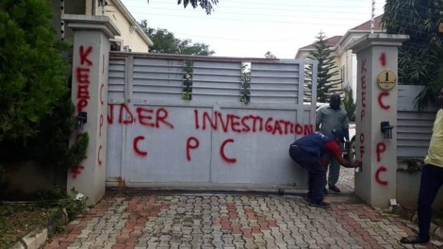 ICPC Seals Residence Of NFF Vice President