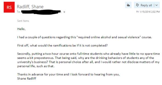Email send to Kerri