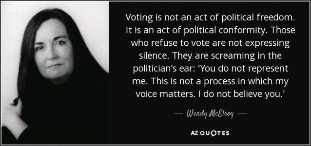 quote-voting-is-not-an-act-of-political-freedom-it-is-an-act-of-political-conformity-those-wendy-mcelroy-85-87-35