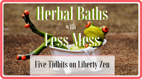 5 Less-Mess Herbal Bath Methods