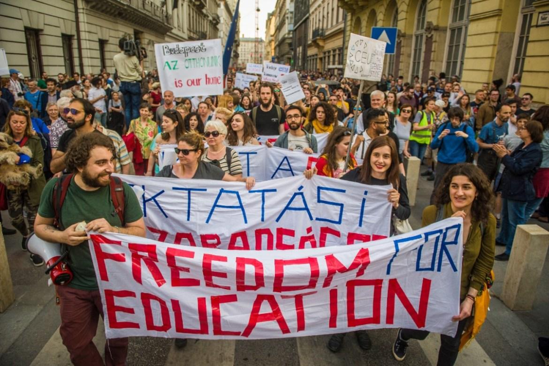 Proteste gegen Lex CEU