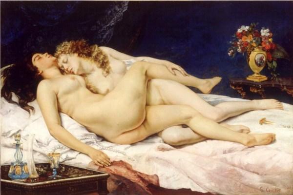 "Figure 2 : "" Le sommeil "" Gustave COURBET - 1866"