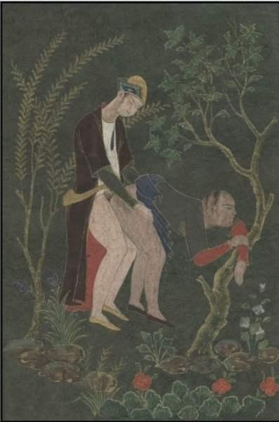 "Figure 6 : Hommes "" gay "" ayant des rapports sexuels en Iran séfévide"