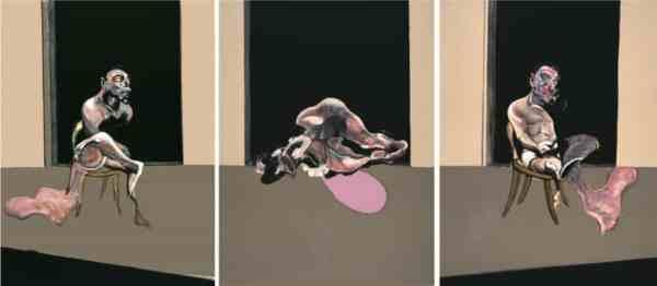 """Figure 9 : """" Etude de 3 nus """" Triptyque - Francis BACON"""