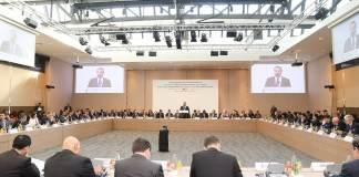 Photo de la conférence CEDRE d'aide économique au Liban qui s'est tenue le 6 avril 2018 à Paris, en présence du Premier Ministre Libanais Saad Hariri et de 46 pays et organisations. Crédit Photo: Dalati & Nohra.