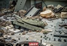 Matériel israélien détruit lors du conflit avec le Hezbollah, Musée de Mlita. Crédit Photo: Libnanews.com