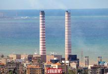 La centrale électrique de Zouk Michael au nord de la capitale Beyrouth. Crédit Photo: François el Bacha, pour Libnanews.com, tous droits réservés.