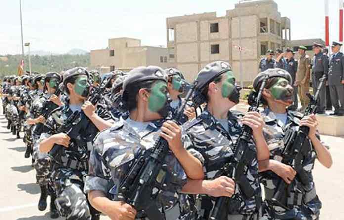 Les unités féminines des FSI. Source Photo: Site des FSI http://www.isf.gov.lb/
