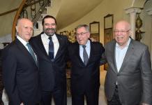 Le Premier Saad Hariri, l'ancien Premier Ministre Fouad Saniora et l'ancien Ministre de la Justice Ashraf Rifi. Crédit Photo: Dalati & Nohra