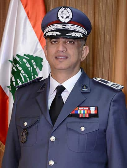 Le général Imad Othman, commandant des Forces de Sécurité Intérieure. Source Photo: http://www.isf.gov.lb/