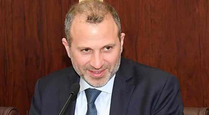 Le Ministre des Affaires Etrangères Gébran Bassil s'exprimant devant le Parlement. Crédit Photo: Parlement Libanais