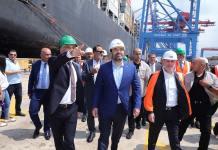 Le Premier Ministre au cours de sa visite du Port de Beyrouth, le 6 septembre 2019. Crédit Photo: Dalati & Nohra