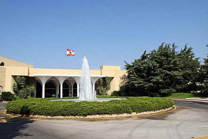 Le Palais Présidentiel de Baabda. Source Photo: Facebook