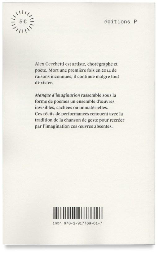 Alec Cecchetti Manque d'Imagination