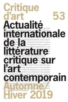 couverture de la revue critique d'art