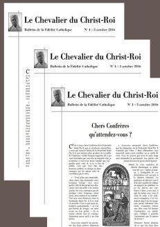 abonnement au Chevalier du Christ-Roi