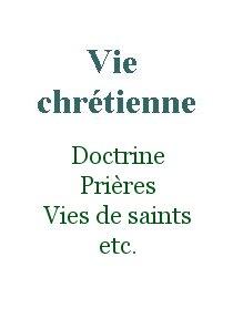 Vie chrétienne