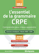 L'essentiel de la grammaire CRPE - Session 2018-2019 De Bernard Barlet - Studyrama