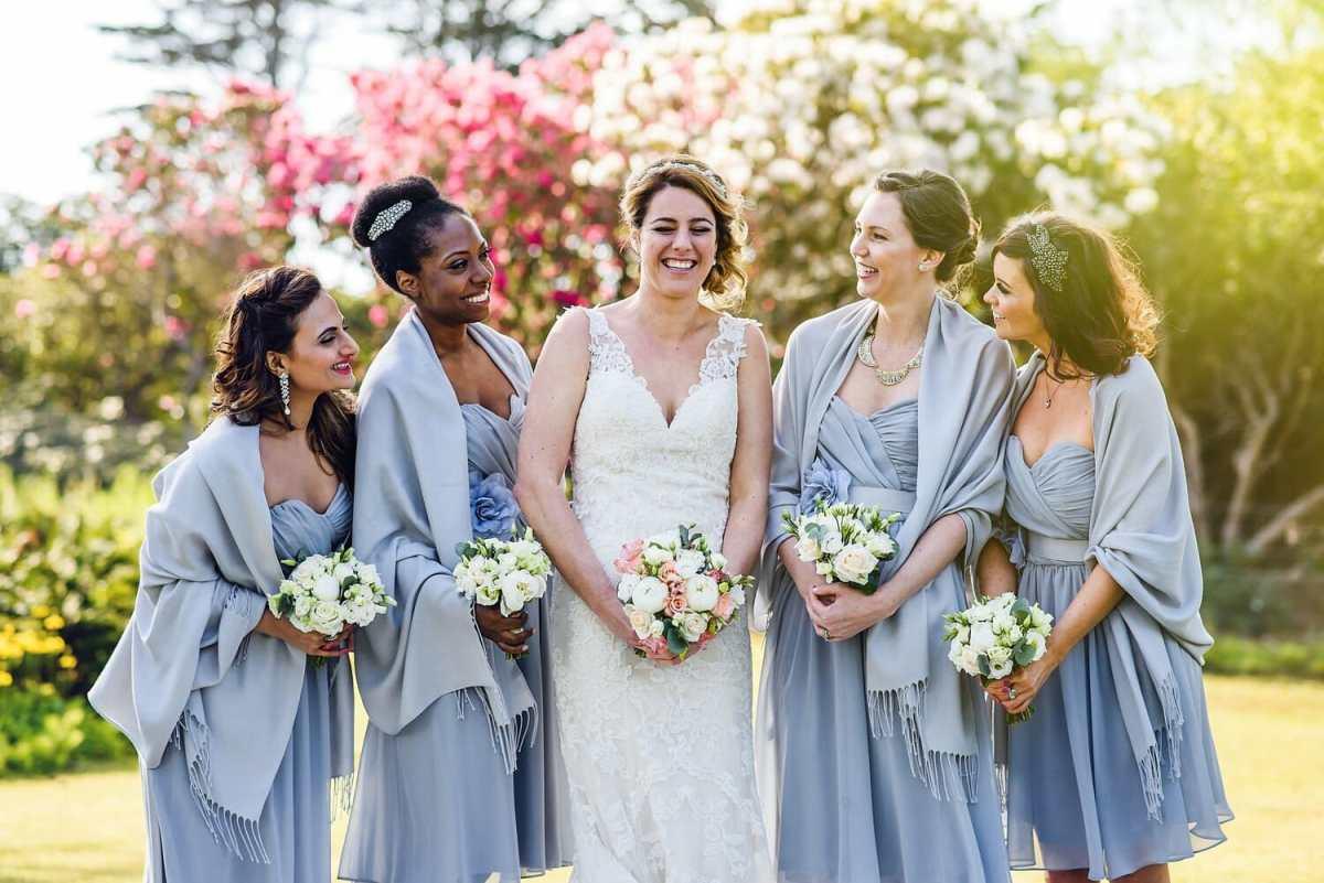 Bridesmaids by Studland bay house wedding photographer