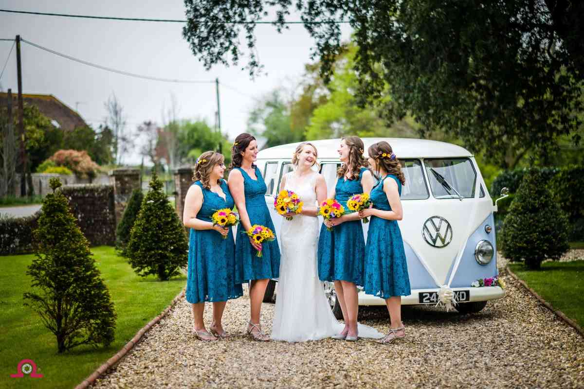 Bride and Bridesmaids at Parley Manor near Bournemouth
