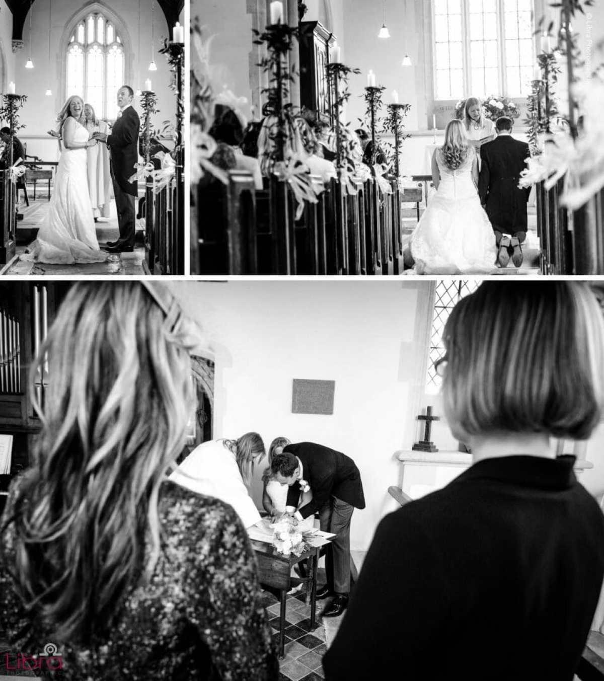 Wedding seremony in black and white