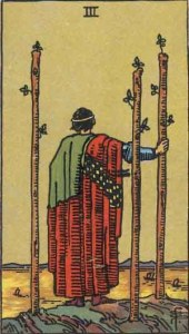 tarot card: 3 of wands