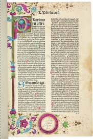 Incipit page for a 1476 edition of Paolo Veneto's commentary on Aristotle.