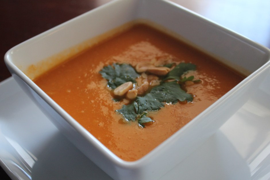 spicy african sweet potato soup
