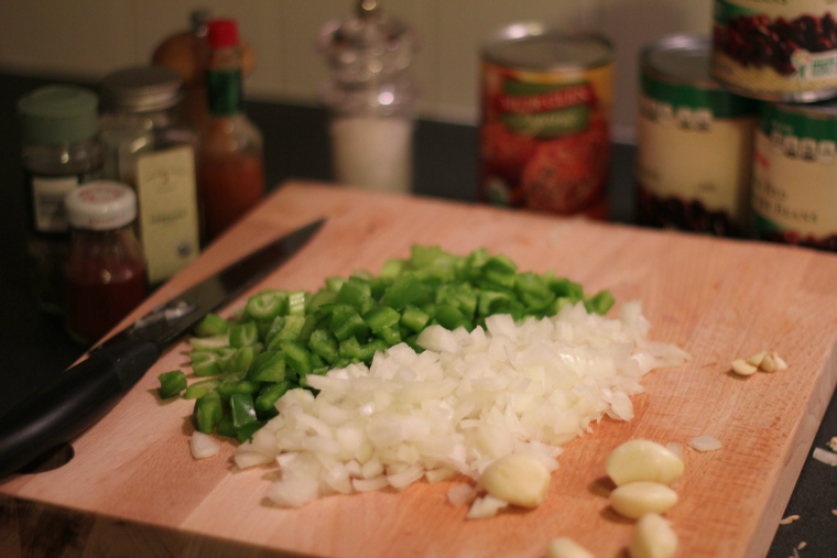 green pepper onion and spices