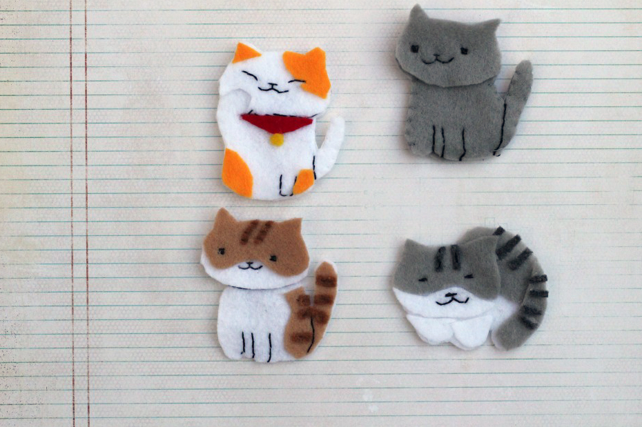 group shot felt neko atsume cats