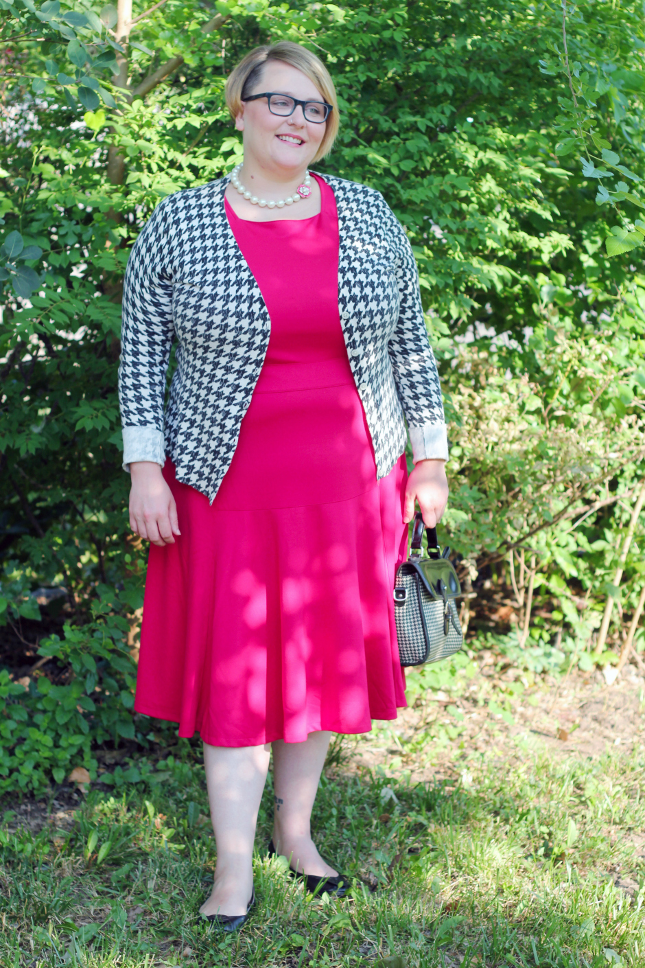 Molly in Pink Lands End Dress
