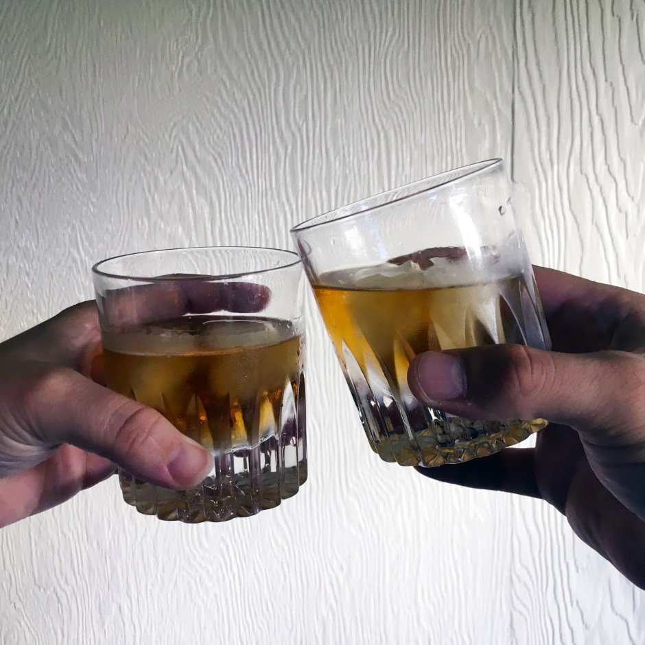 cheers to angel's envy whiskey