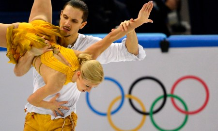 A későbbi győztes orosz Tatyjana Voloszozsar, Makszim Tranykov duó