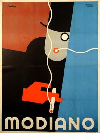 BERÉNY Róbert: Modiano, 1929 Litography, 126x95 cm, Athenaeu