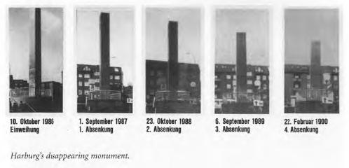 Jochen Gerz és Esther Shaley-Gerz: Monument against Fascism (1986)