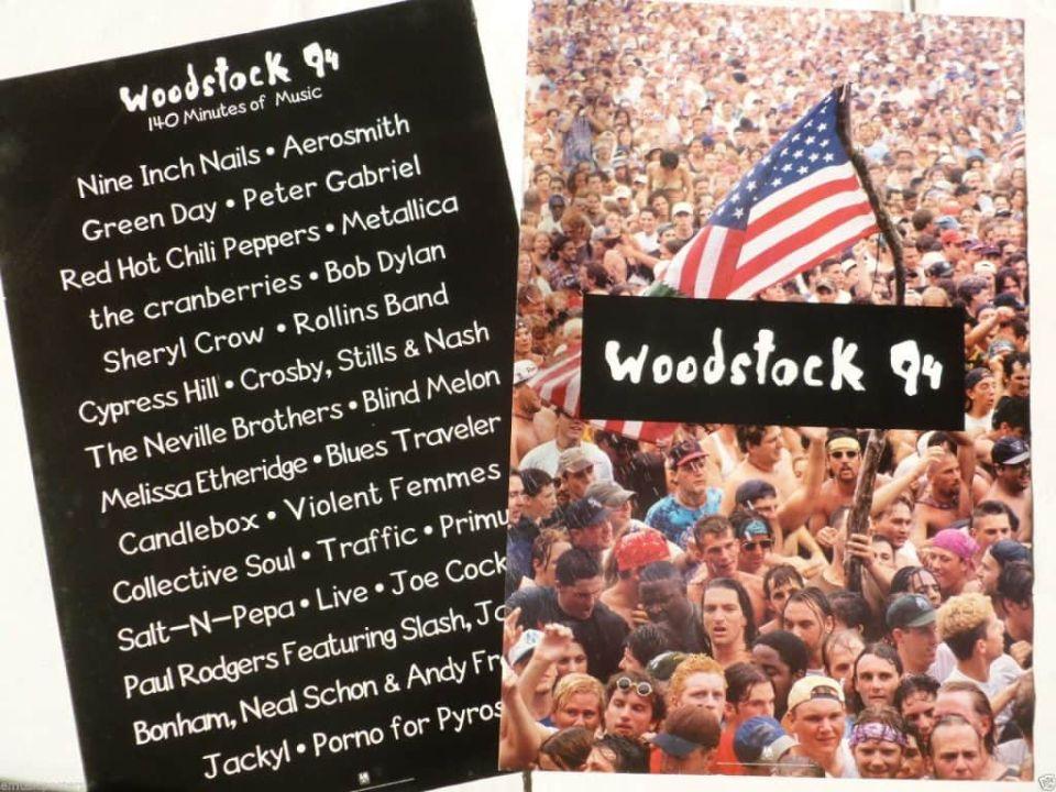 Az 1994-es Woodstock fellépői