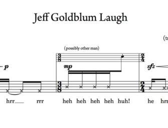Jeff Goldblum idétlen nevetése a zeneirodalom részévé lett