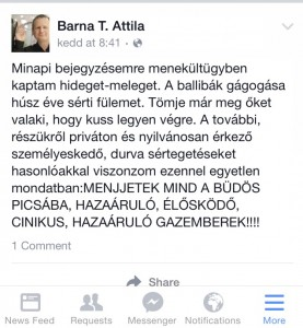 Barna T. Attila válasza