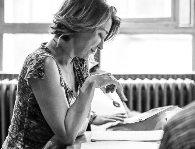 Fullajtár Andrea a Harper Regan olvasópróbáján (fotó: Horváth Judit)